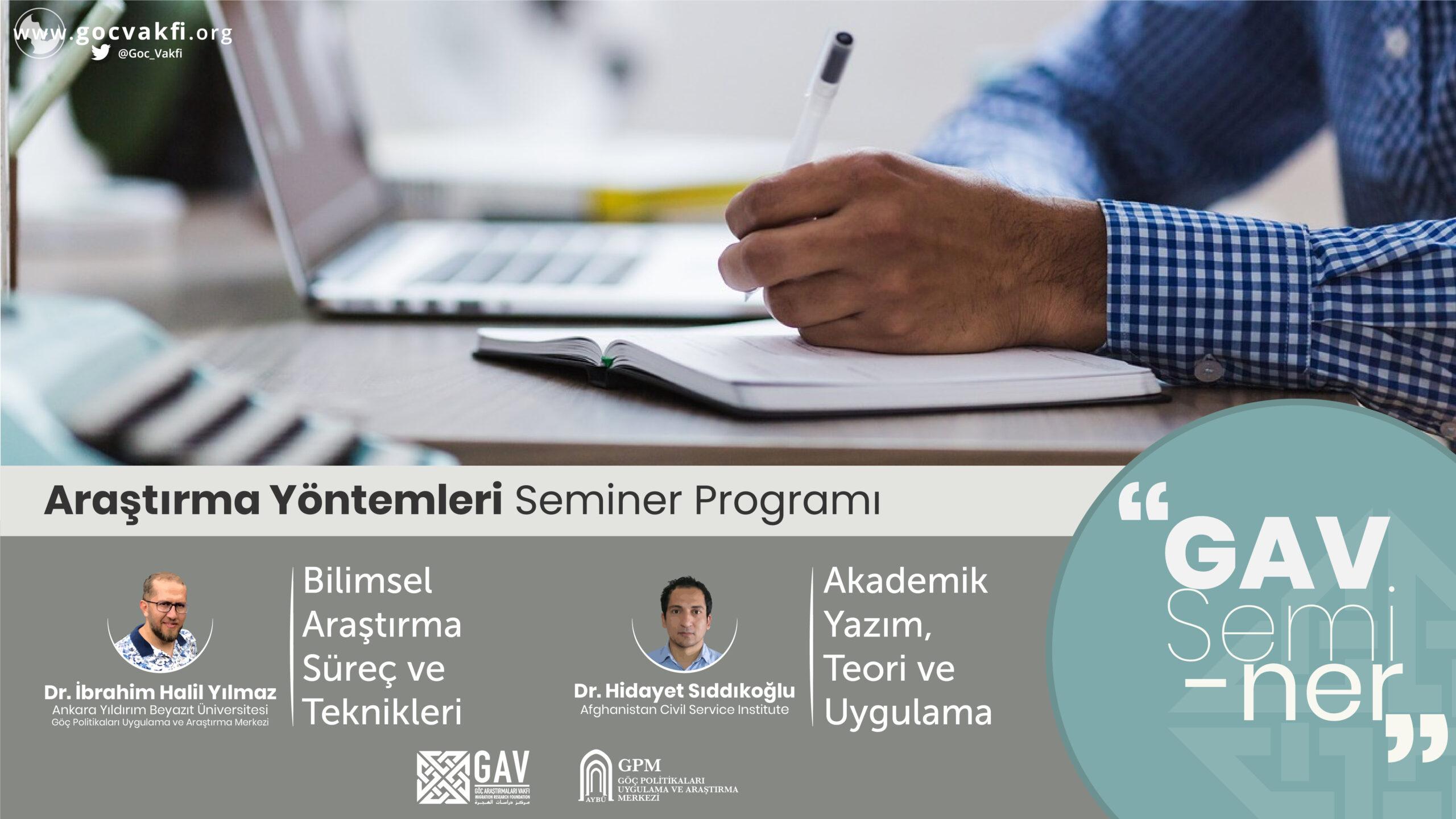 Araştırma Yöntemleri Seminer Programı