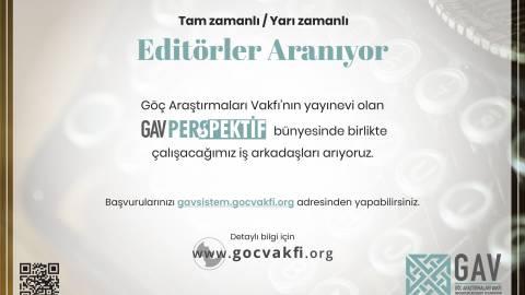 Göç Araştırmaları Vakfı Yayın Editörü Başvurusu