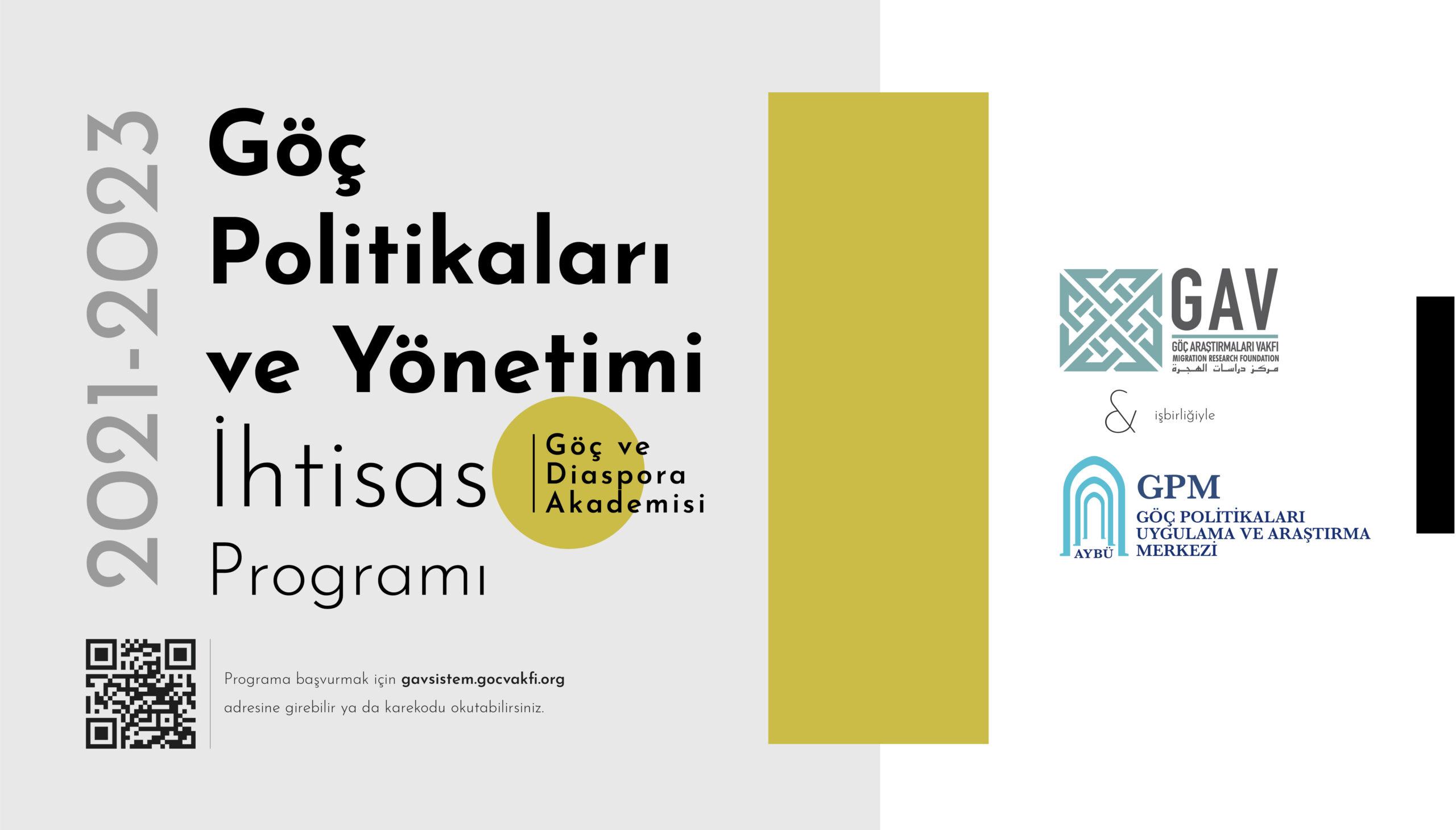 Göç Politikaları ve Yönetimi İhtisas Programı