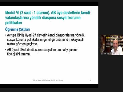 Göç Diaspora ve Sosyal Refah Politikaları Seminer Serimiz Sona Erdi!