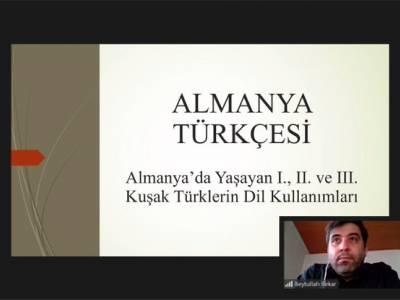Doç. Dr. Beytullah Bekar ile Almanya Türkçesi Semineri